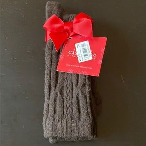 Brown Cashmere Blend Socks